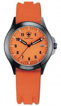 SWISS TIMER Uhr orange Silikonband