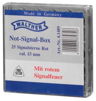 Walther Notsignal-Box Kaliber 15 mm rot