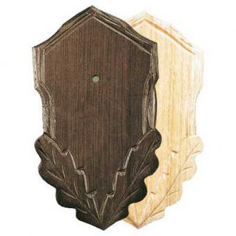 Geschnitztes Rehtrophäen-Schild dunkel
