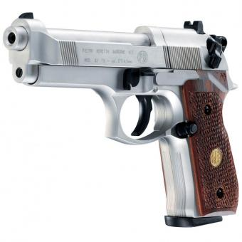 Umarex Beretta M 92 FS vernickelt m. Holzgriff