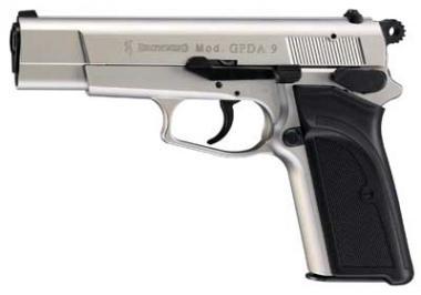 FN GPDA 9 Kal. 9 mm P.A.K. vernickelt m. Kunststoffgriffschalen