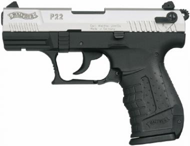Walther Walther P22 Kal. 9mm PAK vernickelt