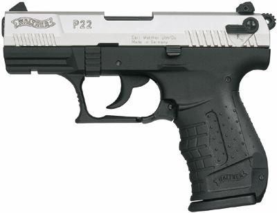 Walther P22 Kal. 9mm PAK vernickelt