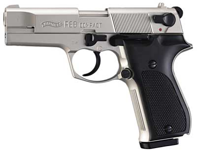 Walther P88 Compact Kal. 9 mm PAK vernickelt